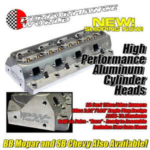 Sbf Aluminum Head And Component Kit 289 351w 60cc Head Ford