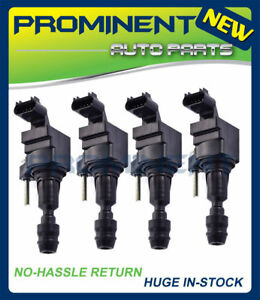 Set Of 4 Ignition Coils For Saturn Chevrolet Cobalt Hhr Ion 3 C1552 Uf491 D517a