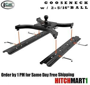 25k Curt 5th Wheel Rail Spyder Gooseneck Trailer Hitch W Universal Rail Kit