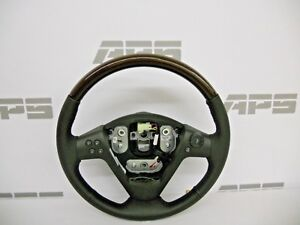 New Gm 04 07 Cadillac Cts Leather Steering Wheel Genuine Burl Wood Grain
