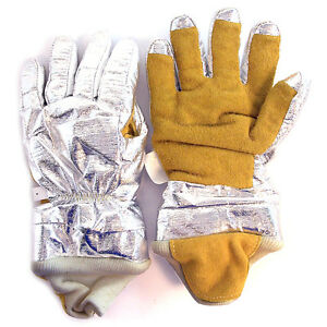American Firewear Small Aluminized Firefighter Proximity 3 d Gloves Gl bpr rwa s