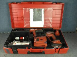 Hilti Kit Includes Dx351 Bt Actuated Tool Xbt 4000 a drill W 2 Batteries