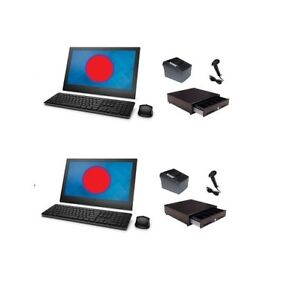 Two Station All In One Pos System Retail Configuration