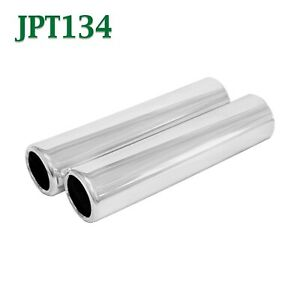 Jpt134 Pair 1 75 Chrome Pencil Exhaust Tips 1 3 4 Inlet 2 Outlet 8 Long