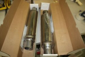 Qty 2 Magnaflow 14419 Stainless Magnapack Xl Universal 3 Mufflers Mustang
