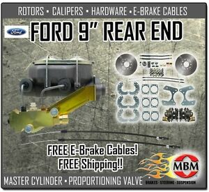 Ford 9 Rear Disc Brake Conversion Kit Complete W Disc Disc Master Prop Valve