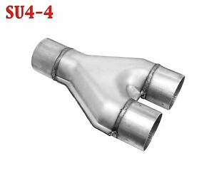 Y Pipe 2 1 2 Single X 2 5 Dual Exhaust Adapter Connector Coupling
