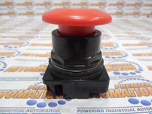 Siemens 52bp2w2 Pushbutton Mounted Red 1 5 8 Plastic 2 position