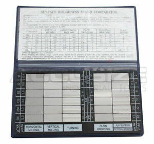 Surface Roughness Comparator Inch metric Combo Brand New eg02 0226