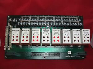 Opto 22 Idc5bq Quad Solid State Relay X 8 With Pb32hq Mounting Board