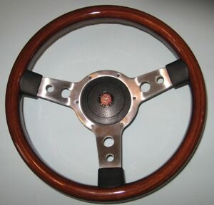 New 13 Solid Wood Steering Wheel Hub Adaptor Austin Healey Sprite Bugeye