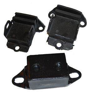 Small Block Chevy Engine Trans Mount Set Rubber Side Mount V 8 Pair