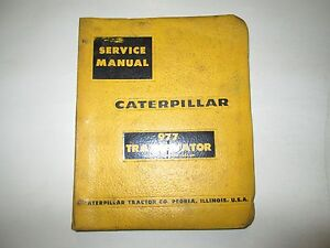 Caterpillar 977 Traxcavator Service Manual Serial No 53a1 up Used Oem Cat 977