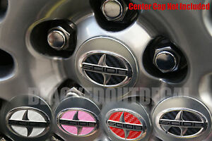 05 2011 Scion Tc Wheel Center Cap Decals Carbon Fiber Sticker Vinyl Rim Emblem