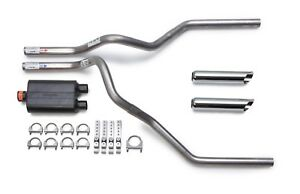 Ford F150 F250 1995 1997 Dual Exhaust Flowmaster Super 44 Muffler Chrome Tips