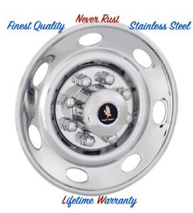 16 Trailer Stainless Steel Wheel Cover Bolt On Hubcaps For One Single Wheel