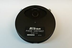 Nikon Elwd 0 3 Phase Contrast Condenser With Ph1 ph3 Phl Annulus