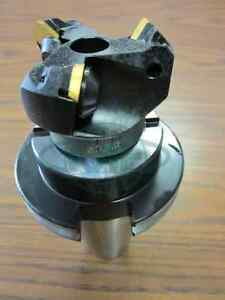 2 45 Degree Indexable Face Shell Mill W Cat50 Arbor face Milling Cutter new