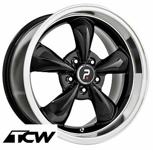 4 17x8 Inch Bullitt Replica Black Wheels Rims 5x4 50 Fit Ford Mustang 65 73