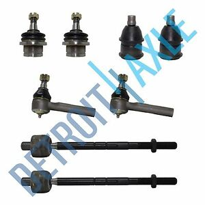 New Ford Truck Kit W 2 Upper 2 Lower Ball Joint 2 Inner 2 Outer Tie Rod