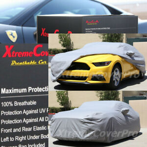 2015 Ford Mustang Breathable Car Cover W mirror Pockets Gray