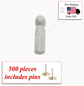 500 Pcs Eas Rf 8 2 Mhz Checkpoint Compatible Security Tags With Pins Slim Model