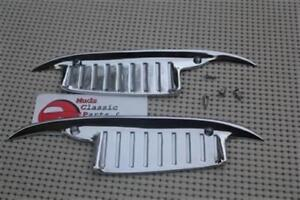 61 64 Impala Chevy Biscayne Bel Air Chrome Door Handle Scratch Guards Pair New