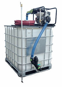 275 Gal Poly Tote With Sealcoating Equipment Spray System Honda Engine