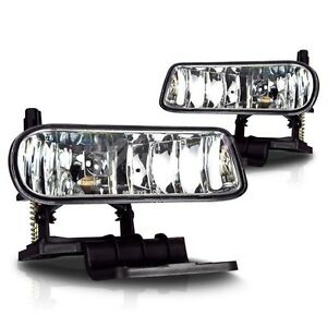 Fit For 2000 Silverado 1500 Hd Fog Light Lamps Clear Lens Left Right