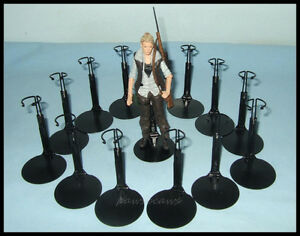 12 Action Figure DISPLAY STANDS fit 5.5 Walking Dead 6