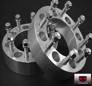 4 Pc 2012 Up Dodge Ram 2500 Wheel Spacer Adapters 2 00 Inch 8650e1415