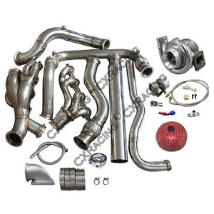 Turbo Header Downpipe Kit For 99 07 Chevrolet Silverado Gmt 800 Vortec V8 5 3