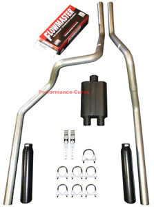 06 08 Dodge Ram Mandrel Bent Dual Exhaust W Flowmaster Super 44 Muffler