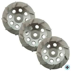 3 Pack 5 Turbo Diamond Grinding Cup Wheels 9 Segs 5 8 11 Threaded