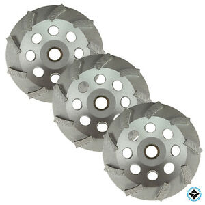 3 5 Turbo Diamond Cup Wheels 9 Segs Grinding Concrete Non thread 5 8 7 8