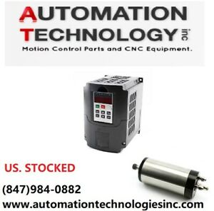 Water cooled 1 5kw Usa 110v Cnc Spindle Motor And Matching Inverter Vfd Router