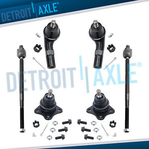 New All 4 Tie Rod Ends Both 2 Lower Ball Joints For Vw Golf Beetle Jetta