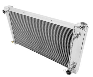 1967 1968 1969 1972 Chevy Gmc Truck Blazer Champion 4 Core Dr Radiator