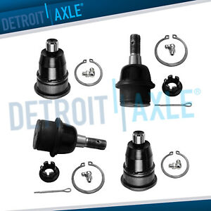 4pc Front Upper And Lower Ball Joints For 2002 2009 Gmc Envoy Chevy Trailblazer