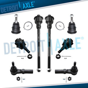 8pc Front Upper Lower Ball Joints Inner Outer Tie Rods For 02 10 Gmc Sierra 2500