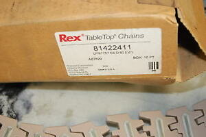 Rexnord 81422411 Table Top Chain 10 Long With High Friction Insert New In Box