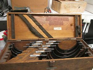 Lufkin Rule Micrometer Set Used Br