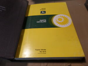 John Deere 4840 Tractor Parts Catalog Manual Pc1614