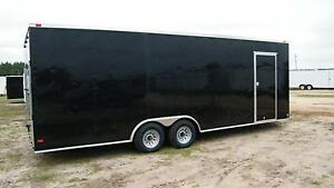 8 5x24 Enclosed Trailer Cargo Car Hauler V nose Utility Motorcycle 26 28 2018