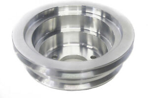 Bbc Polished Billet Aluminum Crank Pulley Triple 3 Groove Lwp Long Water Pump