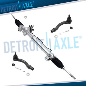 Complete Power Steering Rack And Pinion 2 New Outer Tie Rod Ends For Camry