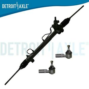 Power Steering Rack Pinion 2 Outer Tie Rod Ends For Toyota Camry Avalon