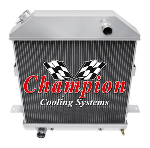 1939 40 41 Ford Deluxe With Ford V8 Champion 3 Row Aluminum Radiator Cc4001fd