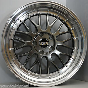 Lm Style Wheels Esr Sr05 17x9 5 Fit Lexus Is300 Is250 Toyota Camry Solora Avalon