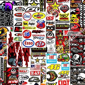 60 Sheets Motorcycle Bike Atv Motocross Extreme Sports Decals Wholesale Price